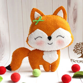 Aranyos kicsi róka filcből ( ingyenes szabásminta )