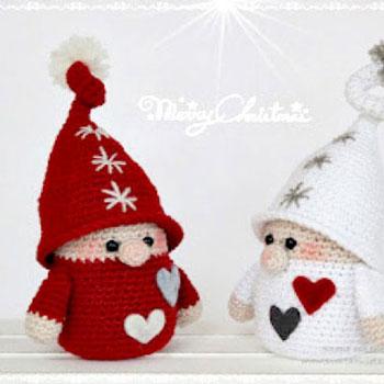 Horgolt karácsonyi manók ( ingyenes horgolásminta )