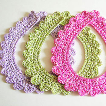 Crochet Collar Necklace Free Crochet Pattern Mindy