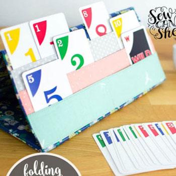 Textil kártyatartó kártyajátékokhoz ingyenes szabásminta)