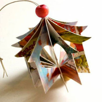 Heart house - christmas ornament from greeting cards