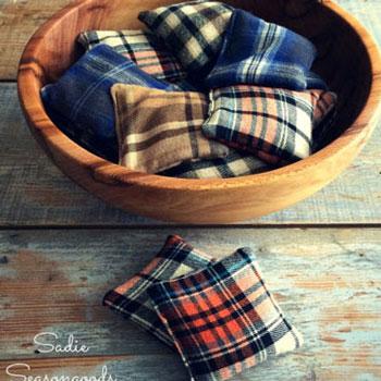 Kézmelegítő rizspárnák flanel ingekből