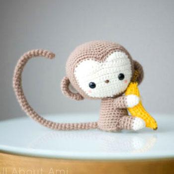 Aranyos kicsi majom banánnal (free crochet pattern)