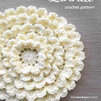 Térbeli végtelen virág ( ingyenes horgolásminta )