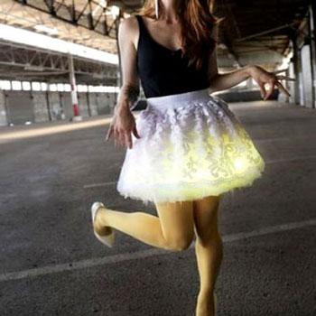 Csipke szoknya változtatható fényű led világítással