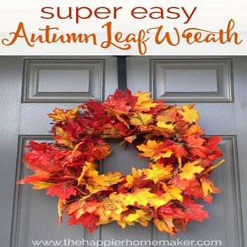 Egyszerű őszi falevél koszorú - mű falevelekkel