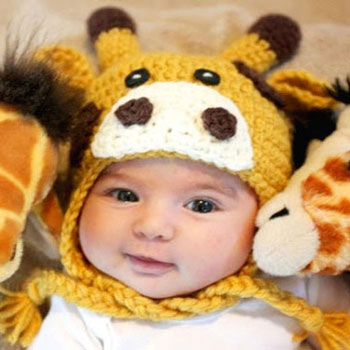 Crochet giraffe hat for kids ( free crochet pattern )