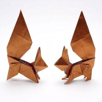 Egyszerű origami mókus - papírhajtogatás gyerekeknek