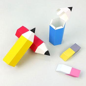 Ceruza alakú ajándékdobozok (ingyenesen nyomtatható)