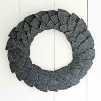 DIY Easy fall felt leaf wreath (winter-autumn decor)