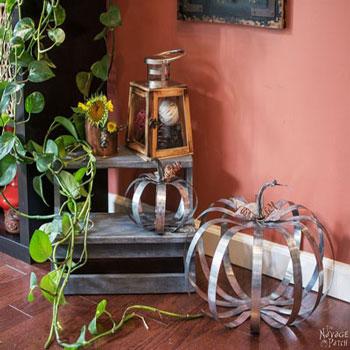 Rusztikus tökök alumíniumból - őszi dekoráció