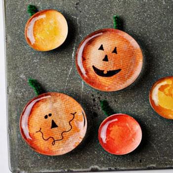 Tök hűtőmágnesek üvegkavicsból - őszi kreatív ötlet