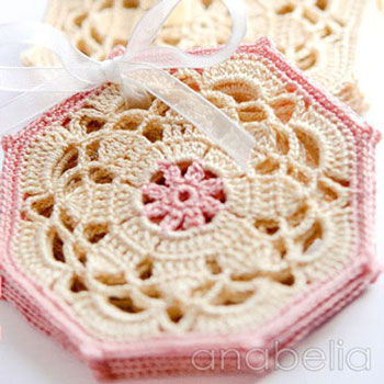 Crocheted vintage / shabby chic coasters