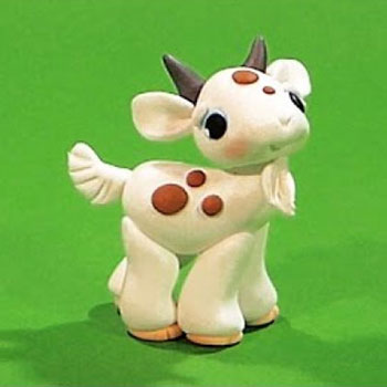 Spotted little goat - step-by-step polimer clay tutorial
