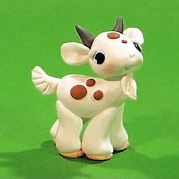 Foltos kis kecske - gyurmafigura készítés lépésről-lépésre