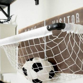 Fali labda tartó gyerekszobába focikapuból