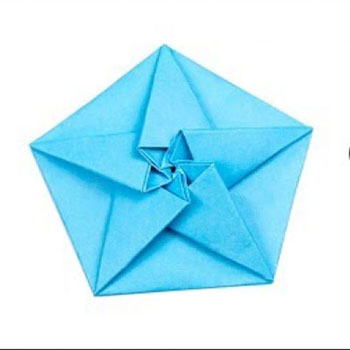 Double origami star - easy Christmas tree ornament from paper