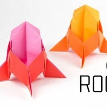 Origami rakéta űrhajó - papírhajtogatás gyerekeknek