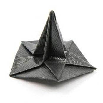 Origami halloween boszorkány sapka