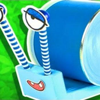 Konzerv doboz csiga - vicces kreatív ötlet gyerekeknek
