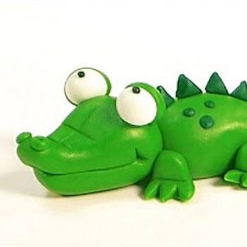 Krokodil gyurma figura lépésről-lépésre