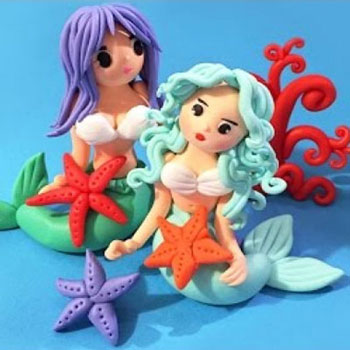 Mermaids ( sirens ) - polimer clay tutorial
