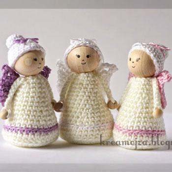 Easy Crochet Angel Ornament Free Hungarian Crochet Pattern Mindy