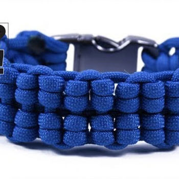 DIY Truck tire style paracord survival bracelet (video tutorial)