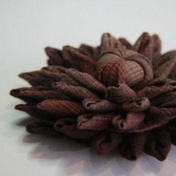 Őszirózsa - virág textilből egyszerűen