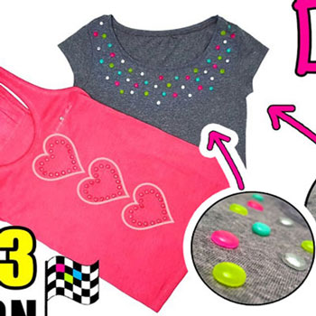 DIY T-Shirt decorations made with hot glue (glue gun stick)