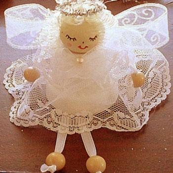 Agyagcserép angyalka - karácsonyi dekoráció egyszerűen