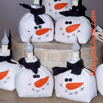 Hóemberes karácsonyi lámpa dekoráció