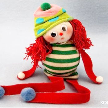 DIY Elf on a Shelf - Christmas sock doll  (no-sew)