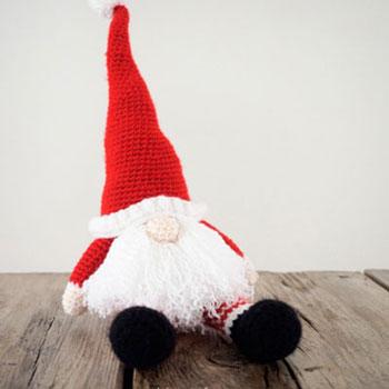 Scandinavian Crochet Santa Gnome Free Crochet Pattern Mindy