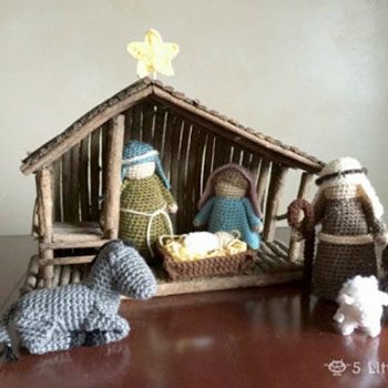 Crochet (amigurumi) nativity set - free crochet pattern