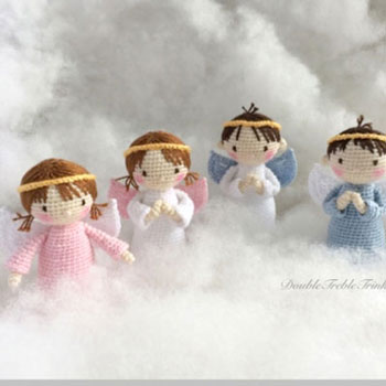 Horgolt angyalka baba (fiú és kislány) - ingyenes horgolásminta