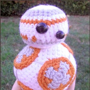 Amigurumi Crocheted Bb 8 Star Wars Robot Toy Free Crochet