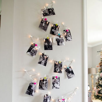 DIY Family photo Christmas tree