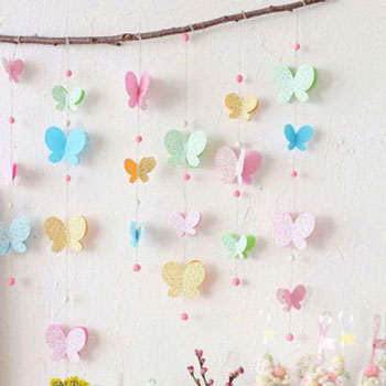 Adorable butterfly mobile from paper