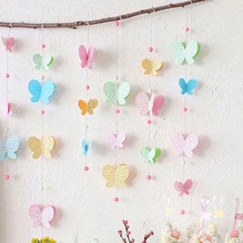 Pillangós (lepkés) függő papírból
