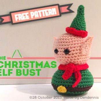 Kicsi horgolt karácsonyi manó (ingyenes amigurumi minta)
