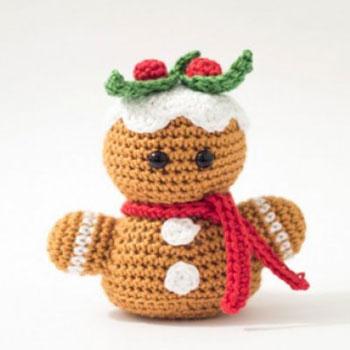 Mini horgolt mézeskalács figura (ingyenes amigurumi minta)