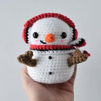 Picurka amigurumi hóember - ingyenes horgolásminta