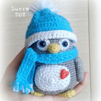 Fázós mini amigurumi pingvin (ingyenes orosz horgolásminta)