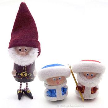 Parafadugó karácsonyi manók többféle verzióban