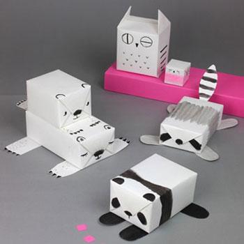 Egyszerű és aranyos állatos ajándék csomagolási ötlet