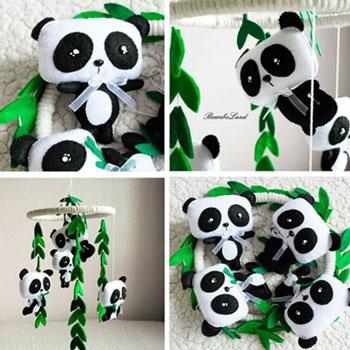 Diy Felt Panda Baby Mobile Free Sewing Pattern Mindy