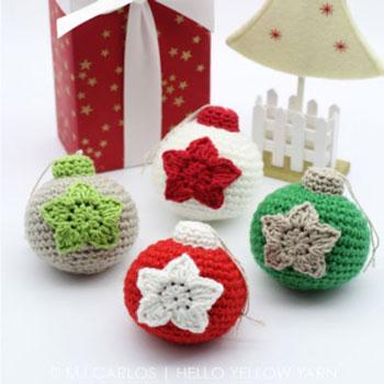 Amigurumi gömb karácsonyfadíszek (ingyenes horgolásminta)