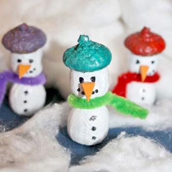 Makk hóemberek - kreatív ötlet gyerekeknek