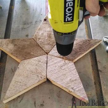 Egyszerű rusztikus csillagok fából - barkácsolás
